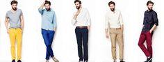 ropa para combinar pantalon tinto hombre - Buscar con Google