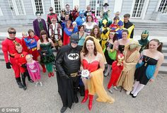 THIS is crazy but this is awesome!  How fun! Super hero, cosplay wedding! Maybe I'll do this for my vow renewals, lol.