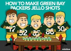 wikiHow to Make Green Bay Packers Jello Shots -- via wikiHow.com