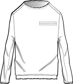 Mens Flat Fashion Sketch