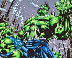 Savage Hulk by Ron Garney. Hulk Marvel, Batman Vs Superman, Marvel Comics, First Hulk, Hulk Art, Red Hulk, Hulk Smash, Bruce Banner, Incredible Hulk