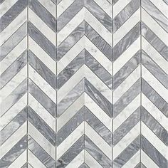 Splashback Tile Dart White Carrara and Bardiglio 10-3/4 in. x 10-3/4 in. x 10 mm Polished Marble Mosaic Tile DRTCRABRD at The Home Depot - Mobile