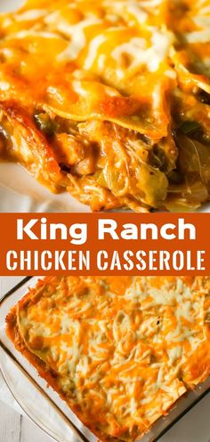 King Ranch Chicken Casserole - This is Not Diet Food King Ranch Chicken Casserole is a creamy chicken casserole loaded with green peppers, chopped green chilies and layers of corn tortillas and cheese. King Ranch Chicken Casserole, Creamy Chicken Casserole, Creamy Chicken And Rice, Creamy Chicken Enchiladas, Ground Chicken Casserole, Recipes Using Rotisserie Chicken, Easy Chicken Recipes, Easy Dinner Recipes, Diet Recipes