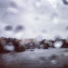 View from an Annapolis, Md., dock during Hurricane Sandy.