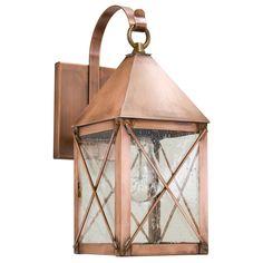 Brass Traditions 500 Series Dorchester Wall Lantern with Bracket - Modern Copper Lighting, Coastal Lighting, Porch Lighting, Farmhouse Lighting, Exterior Lighting, Home Lighting, Outdoor Lighting, Lighting Design, Lighting Ideas