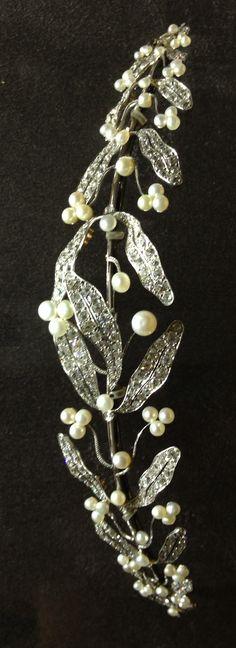 Pearl and diamond tiara by Mellerio dits Meller