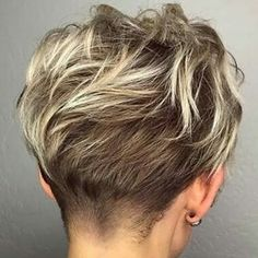 Back of Pixie, with undercut