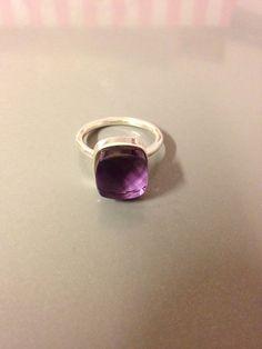 Bague en argent avec pierre améthyste - topaze : Bague par cocoricom Bracelets, Gemstone Rings, Gemstones, Etsy, Accessories, Jewelry, Pom Poms, Topaz, Ring