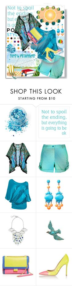 """""""Off to the Sun!"""" by rita257 ❤ liked on Polyvore featuring White Label, In Your Dreams, Hermione de Paula, P.A.R.O.S.H., WithChic, Tom Binns, Forest of Chintz, Boutique Moschino and Posh Girl"""