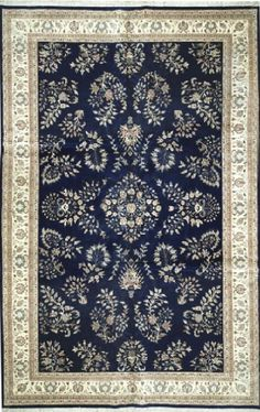 NEW CONTEMPORARY PERSIAN SARUK AREA RUG 52180 - AREA RUG This beautiful Handmade Knotted Rectangular rug is approximately 10 x 16 New Contemporary area rug from our large collection of handmade area rugs with Persian Saruk style from India with Wool Area rug houston