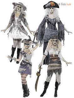 Adult ladies sexy #ghost ship zombie #pirate costume womens #halloween fancy dres, View more on the LINK: http://www.zeppy.io/product/gb/2/201125040118/