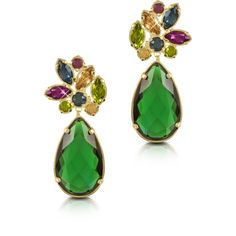 Forzieri Earrings Crystal Drop Earrings (1.185.825 COP) ❤ liked on Polyvore featuring jewelry, earrings, green, swarovski crystal stud earrings, crystal teardrop earrings, teardrop stud earrings, swarovski crystal earrings and green drop earrings