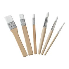 Set Of 6 Ikea Måla (Mala) Wooden Paint Brushes For Kids,Multipurpose Painting For Kids, Art For Kids, Ikea Shopping, Arts And Crafts Supplies, Malm, Paint Brushes, Brush Set, Clear Acrylic, Eye Liner