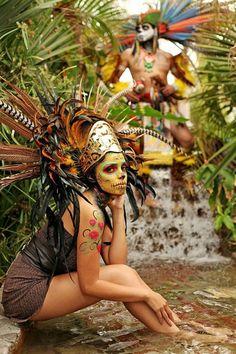 Meshica Tribe of Mexico Native American Art, American Indians, American History, American Symbols, Aztecas Art, Costume Ethnique, Aztec Culture, Brown Pride, Inka