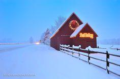 Sun Valley Barn, Winter Storm