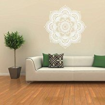 Mandala Flower Indian Bedroom Wall Decal Art Stickers Mural Home Vinyl Family wall stickers Bedroom Stickers Wall Decals(China) Bedroom Stickers, Wall Decals For Bedroom, Flower Wall Stickers, Wall Stickers Murals, Vinyl Wall Decals, Wall Stickers Mandala, Mandala Floral, Sticker Art, Indian Bedroom