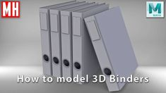 How to model 3D Binders in Maya 2018
