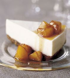 Mascarpone Cheesecake with Quince Compote Recipe at Epicurious.com