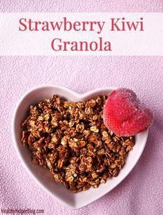Strawberry Kiwi Granola • Healthy Helper #vegan #glutenfree #oilfree #noaddedsugar