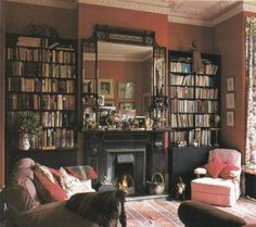 Decor den on pinterest furniture arrangement narrow for English library decor