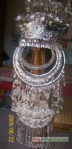 Miao Silver Hat Necklace