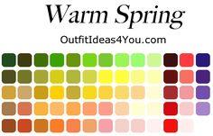 warm spring seasonal color palette
