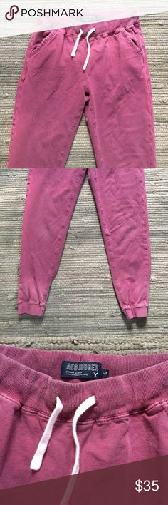 American Eagle Jogger American Eagle Washed out Red Jogger! Worn Twice! Super Comfy! American Eagle Outfitters Pants Track Pants & Joggers