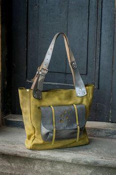 Kalk-Leder überdimensioniert handgefertigte Tasche ladybuq Diese und weitere Taschen auf www.designertaschen-shops.de entdecken