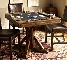 Card Table | Pottery Barn....better than the ole college green felt one