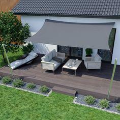 Sonnensegel - 600 x 420 x - azurblau - rechtwinklig-dreieckig - wasserabwe. - Sonnensegel – 600 x 420 x – azurblau – rechtwinklig-dreieckig – wasserabweisend - Backyard Shade, Patio Shade, Backyard Patio, Backyard Landscaping, Landscaping Ideas, Patio Design, Garden Design, Landscape Design, Easy Garden