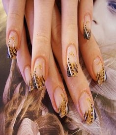 Gold Glitter and Black