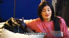 Kylie Jenner 'I legit don't care' GIF  - Sugarscape.com