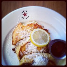 Lemon Ricotta Pancakes // Cafe Stella in Los Angeles.
