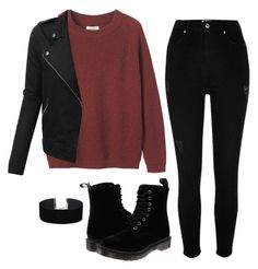 """""""67"""" by ddaisiee on Polyvore featuring River Island, Toast, Dr. Martens, Miss Selfridge and LE3NO"""