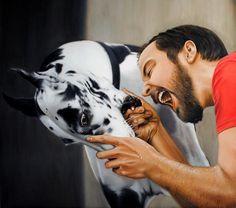bite me by Linnea Strid - Realistic Paintings by Linnea Strid  <3 <3