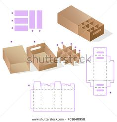 Custom Rectangle Protective Box design, Caring die-stamping Template, Folding Instructions, Portable Container