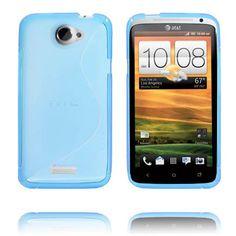 S-Line Transparent (Blå) HTC One X-Skydd