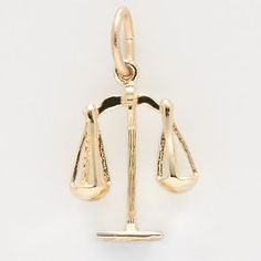 Scales of Justice Charm $22 http://www.charmnjewelry.com/gold-charms.htm #CharmnJewelry