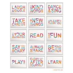 Playroom rules kids wall decor set of 15 5x7 CUSTOM by MiraDoson, $60.00