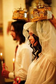 Orthodox Marriage Ceremony -Beautifully executed during the Holy Christmas Season Orthodox Catholic, Orthodox Christianity, Russian Orthodox, Orthodox Wedding, Russian American, Russian Wedding, Greek Wedding, Wedding Couples, Wedding Crowns