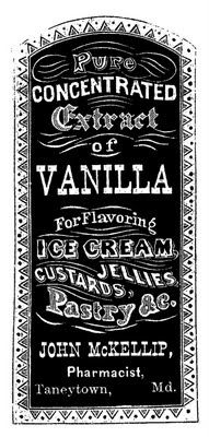 *The Graphics Fairy LLC*: Vintage Clip Art - Apothecary Label - Vanilla Extract