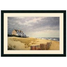 Wonderful print for a beach house ..... you can almost hear the wind and the surf.