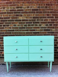 Vintage Dresser In Mint Green by minthome on Etsy, $199.00