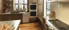 Wooden Cabinets and Stainless Steel Appliances in Famous Kitchen Design