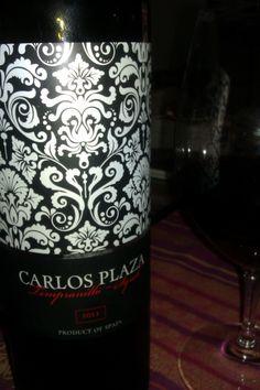 Carlos Plaza Tempranillo-Syrah 2011. Interesting young wine from Extremadura (Spain).