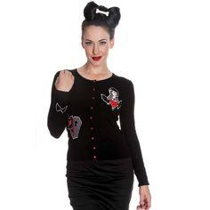 rockabilly halloween | ... Bunny-Vampire-Bat-Horror-Halloween-Goth-Rockabilly-Womens-Cardigan-Top