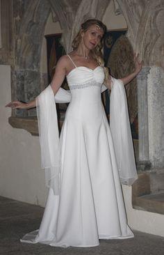 Elegant Celtic Wedding Dress