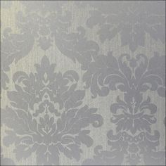 Silver accent wall wallpaper for bedroom!