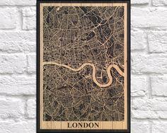 Rome Map City Travel print Wood wall art Travel map print decor 5th Anniversary…