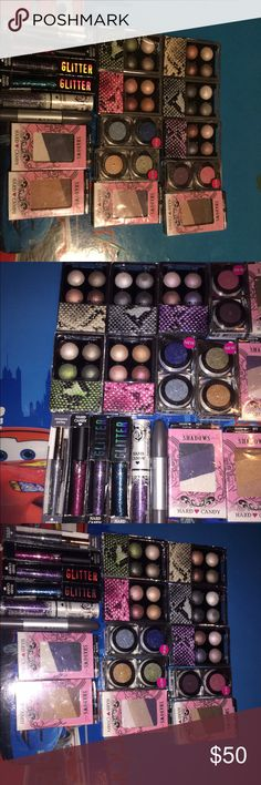 Hard candy Eye LOT!!! Retail is over $100 without tax!!! You get everything you see here!!! 18 pieces!!! All new unopened unused!!! Hard Candy Makeup